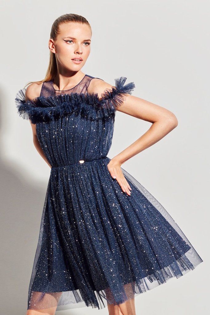vestido lurex la condesa